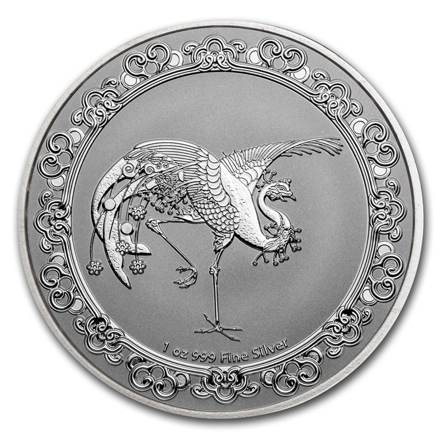 2020 Niue 1 oz Silver $2 Celestial Animals The Red Phoenix