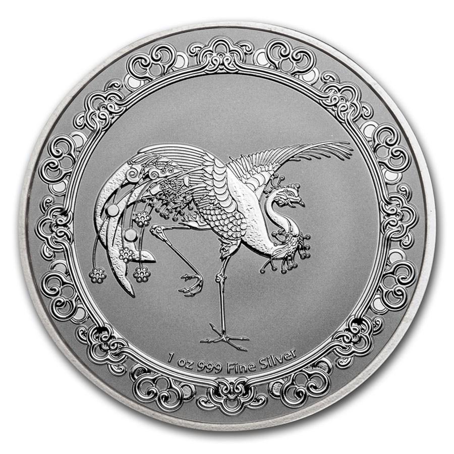 2020 Niue 1 oz Silver $2 Celestial Animals The Red Phoenix
