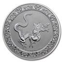 2020 Niue 1 oz Silver $2 Celestial Animals The Yellow Snake