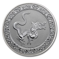 2020 Niue 1 oz Silver $2 Celestial Animals The Yellow Snake