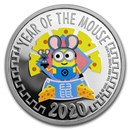 2020 Niue 1 oz Silver $2 Despicable Me: Lunar Mouse Proof