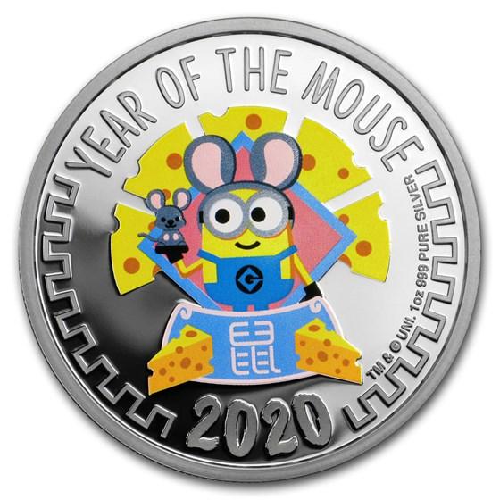2020 Niue 1 oz Silver $2 Despicable Me: Lunar Mouse Proof