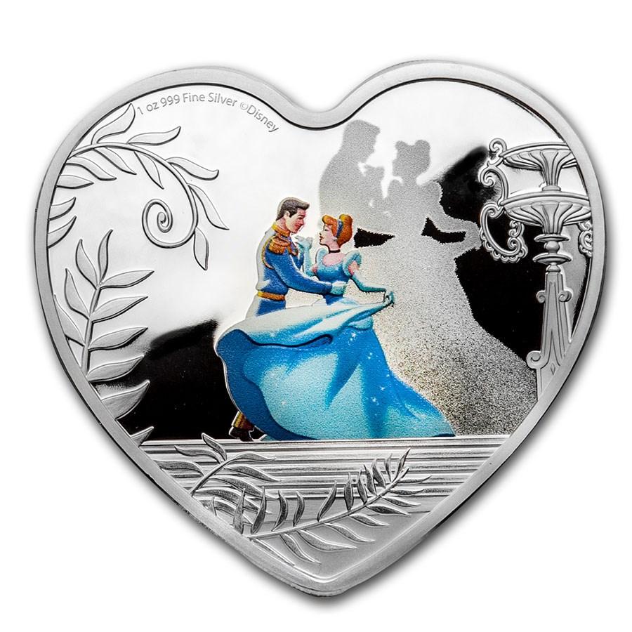 2020 Niue 1 oz Silver $2 Disney Cinderella 70th Anniversary