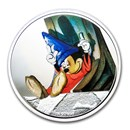 2020 Niue 1 oz Silver $2 Disney Fantasia 80th: Dozing Sorcerer