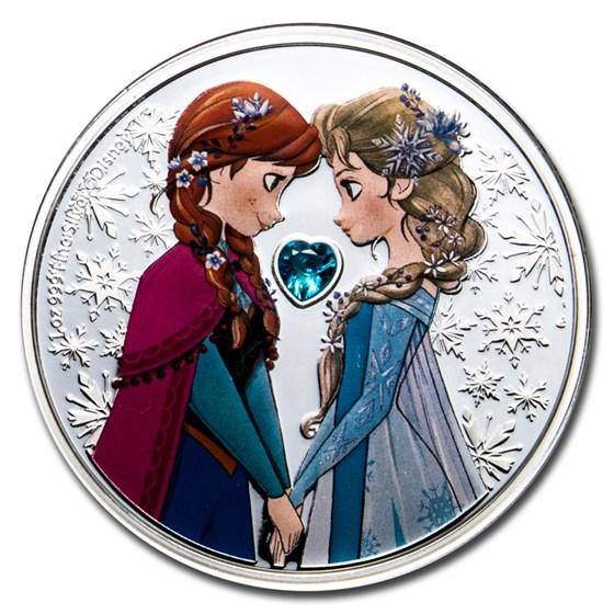 2020 Niue 1 oz Silver $2 Disney Frozen: Sisters Forever