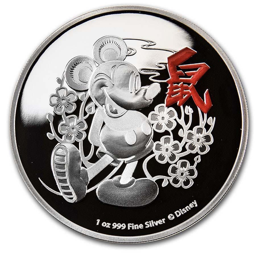 2020 Niue 1 oz Silver $2 Disney Lunar Year of the Mouse Proof