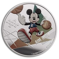 2020 Niue 1 oz Silver $2 Disney Mickey Mouse: Aim High
