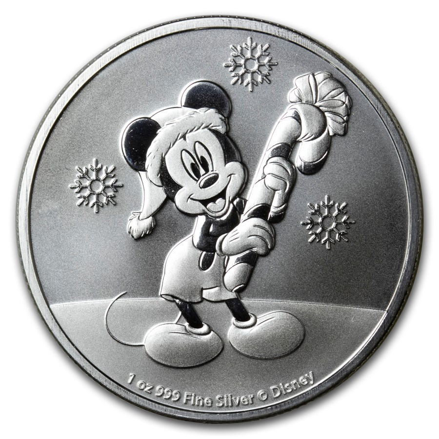 2020 Niue 1 oz Silver $2 Disney Mickey Mouse Christmas BU