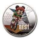 2020 Niue 1 oz Silver $2 Disney Mickey Mouse: Cycling