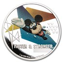 2020 Niue 1 oz Silver $2 Disney Mickey Mouse: Faster & Stronger