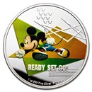 2020 Niue 1 oz Silver $2 Disney Mickey Mouse: Ready Set Go