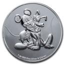 2020 Niue 1 oz Silver $2 Disney Mickey & Pluto BU