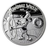 2020 Niue 1 oz Silver $2 Disney Steamboat Willie