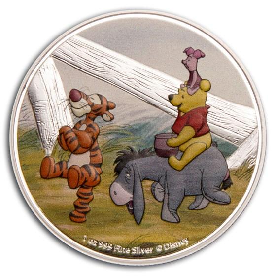 2020 Niue 1 oz Silver $2 Disney Winnie the Pooh: All Together
