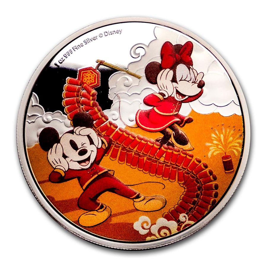 2020 Niue 1 oz Silver $2 Disney Year of the Mouse - Prosperity