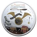 2020 Niue 1 oz Silver $2 Harry Potter Season's Greetings Proof