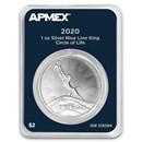 2020 Niue 1 oz Silver $2 Lion King Circle of Life (MD® Premier)