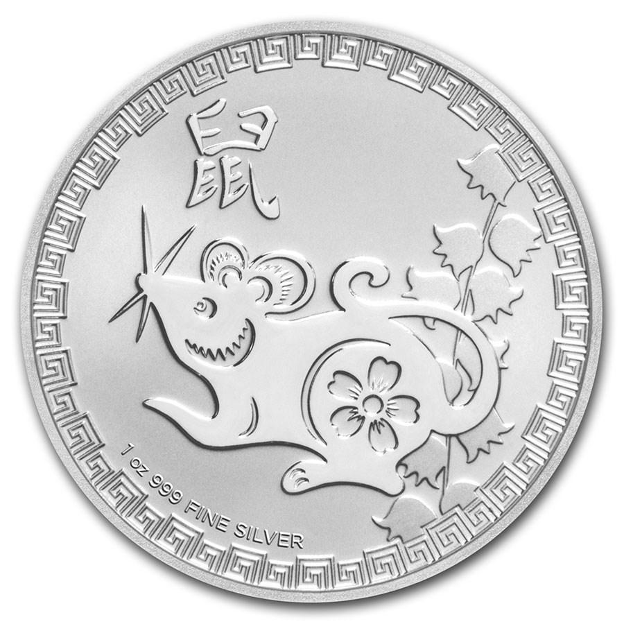 2020 Niue 1 oz Silver $2 Lunar Year of the Rat BU