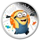 2020 Niue 1 oz Silver $2 Minion Made - Happy Birthday Proof