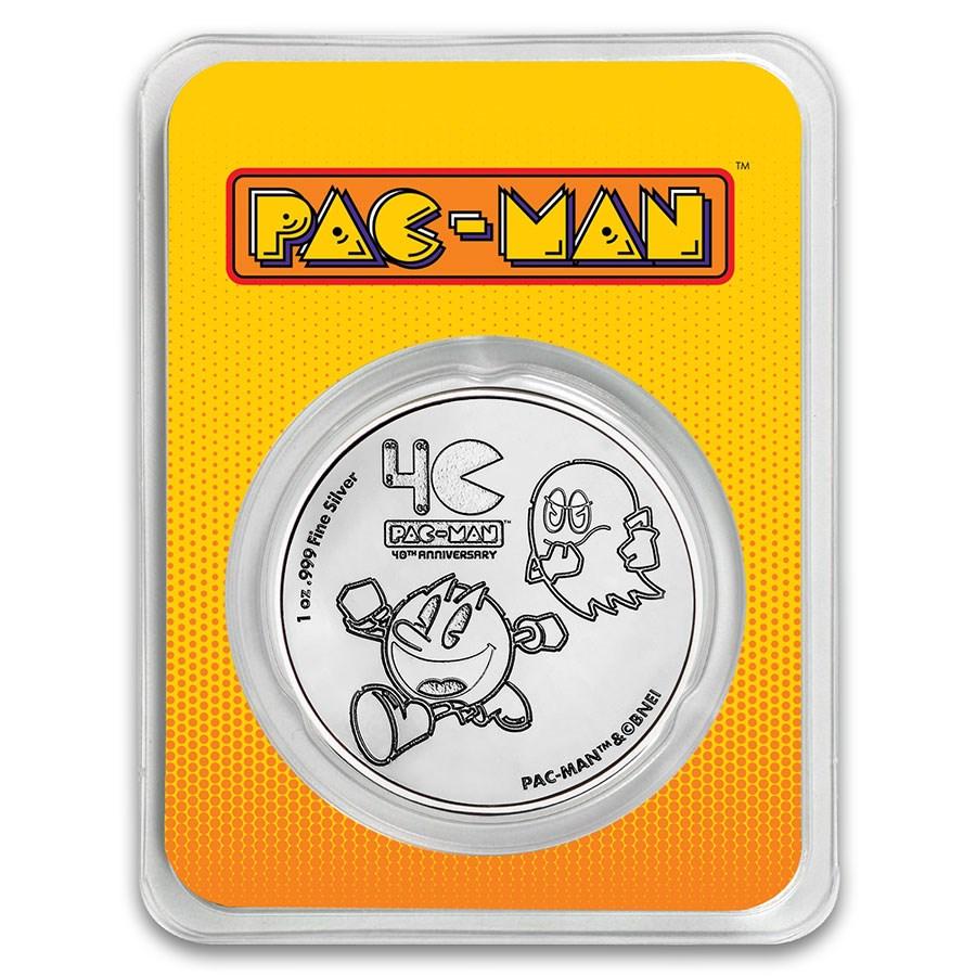 2020 Niue 1 oz Silver $2 PAC-MAN™ 40th Anniversary Coin in TEP