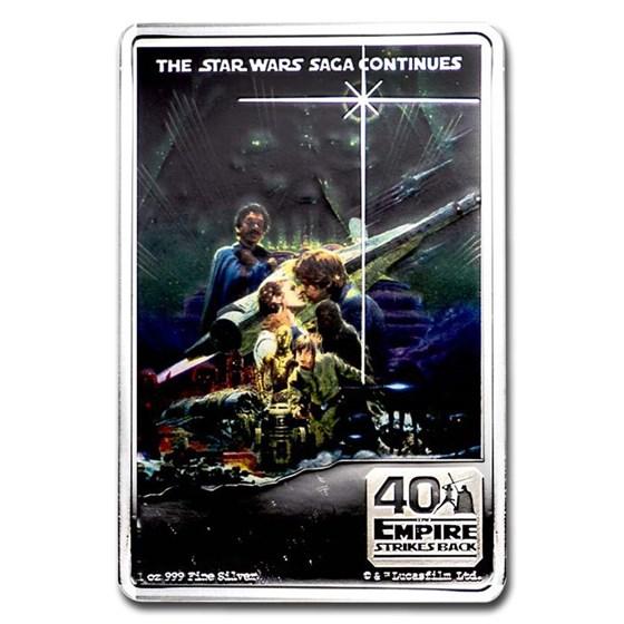 2020 Niue 1 oz Silver $2 Star Wars: Empire Strikes Back 40th Ann