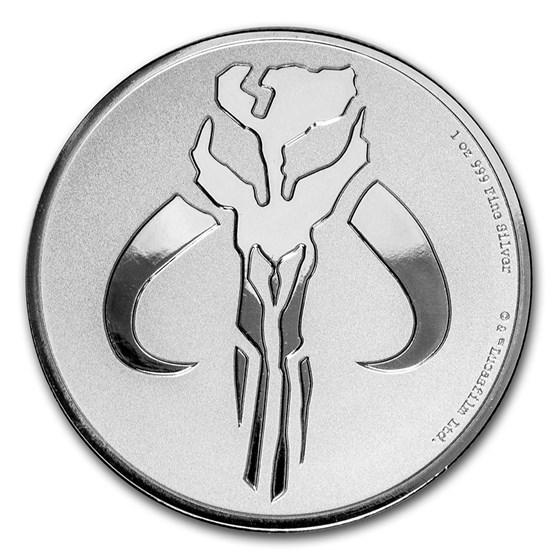 2020 Niue 1 oz Silver $2 Star Wars: Mandalorian Mythosaur Coin