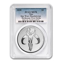2020 Niue 1 oz Silver $2 Star Wars: Mythosaur MS-70 PCGS (FS)