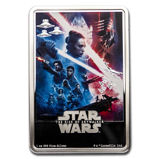 2020 Niue 1 oz Silver $2 Star Wars The Rise of Skywalker Poster
