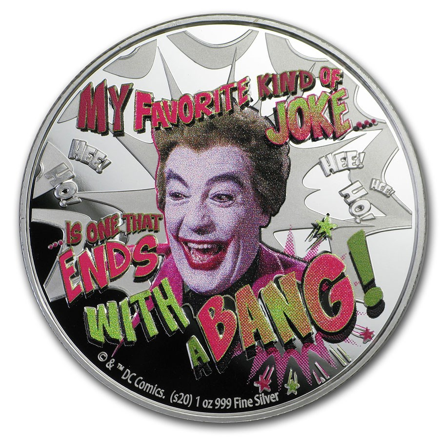 2020 Niue 1 oz Silver Batman '66: The Joker