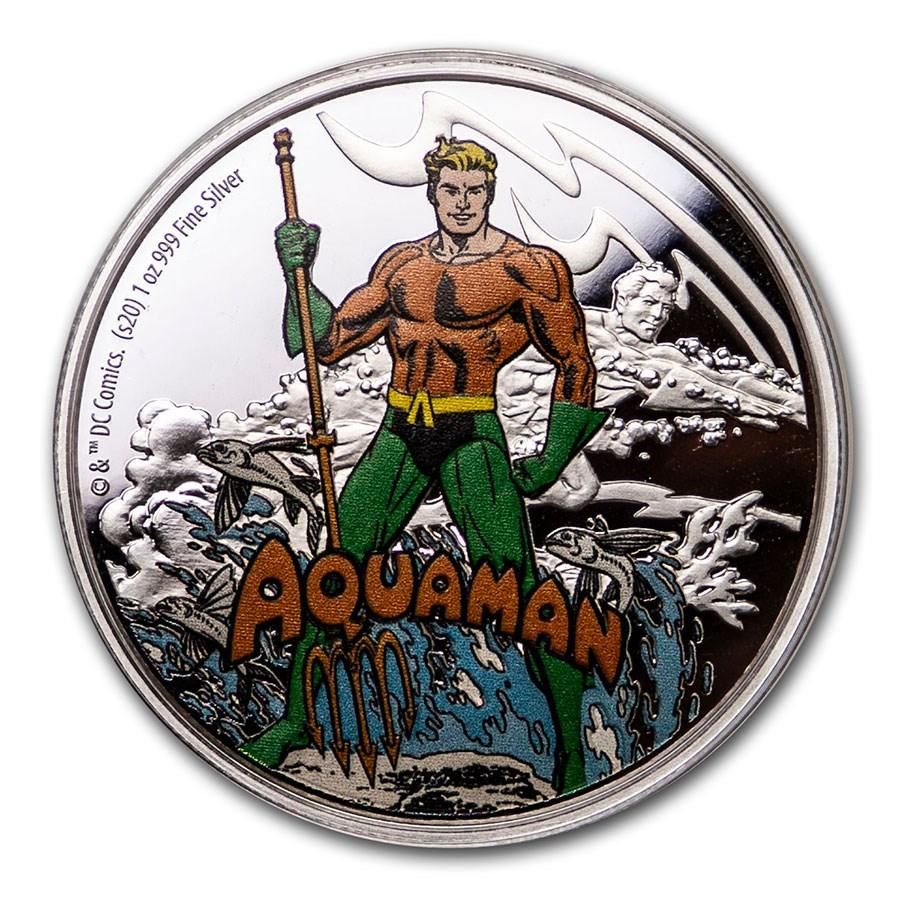 2020 Niue 1 oz Silver Coin $2 Justice League 60th: Aquaman