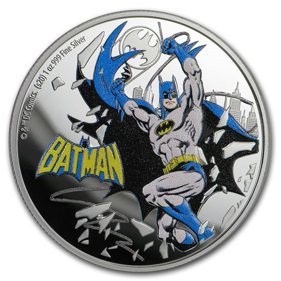 2020 Niue 1 oz Silver Coin $2 Justice League 60th: Batman