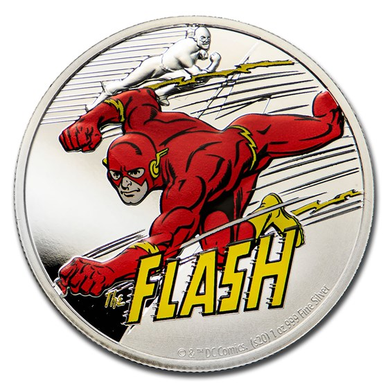 2020 Niue 1 oz Silver Coin $2 Justice League 60th: The Flash