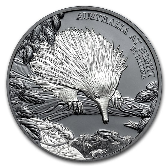 2020 Niue 1 oz Silver Proof Australia at Night (Echidna)