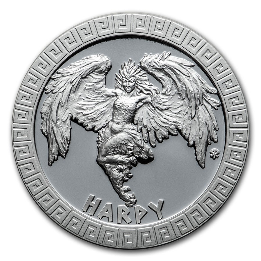 2020 Niue 1 oz Silver Proof Mythical Creatures: Harpy