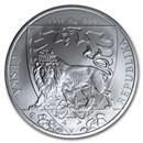 2020 Niue 10 oz Silver Czech Lion BU