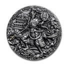 2020 Niue 2 oz Antique Silver Four Heavenly Kings: Duowentian