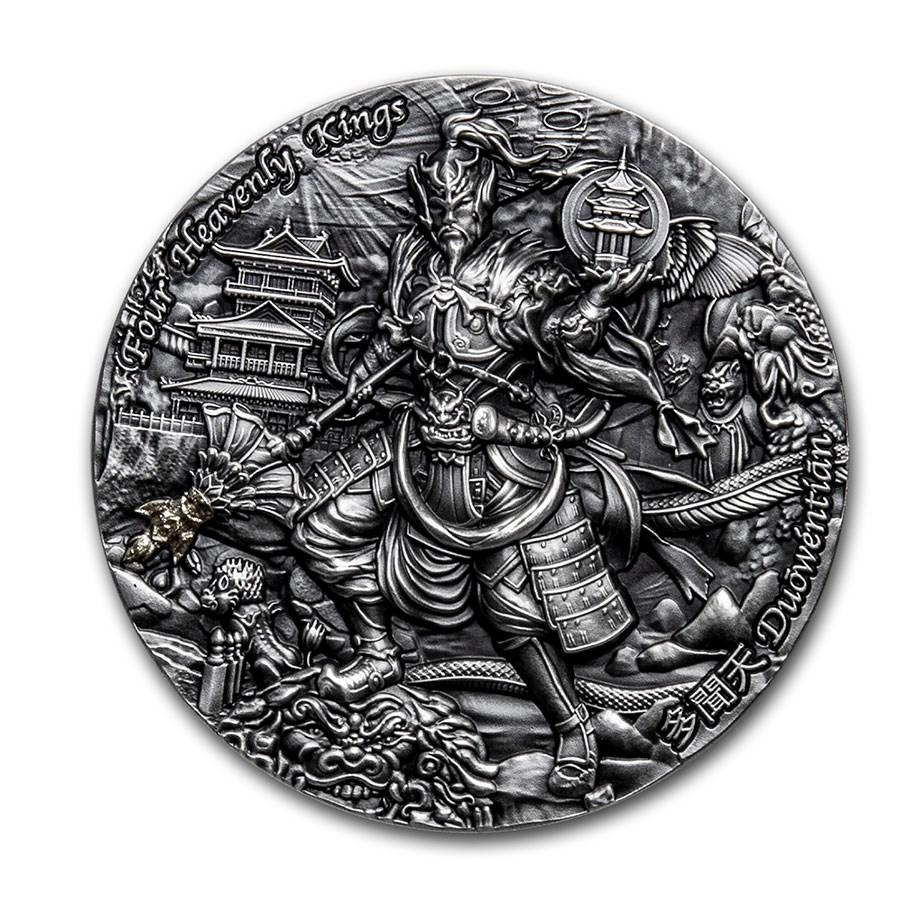 2020 Niue 2 oz Antique Silver Four Heavenly Kings: Duowentian