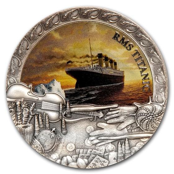 2020 Niue 2 oz Antique Silver Shipwrecks in History: Titanic