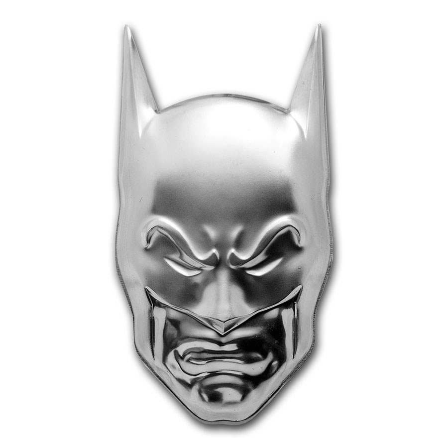 2020 Niue 2 oz Silver $5 DC Comics: Batman Cowl Mask (UHR)