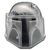 2020 Niue 2 oz Silver $5 Star Wars Boba Fett Helmet UHR