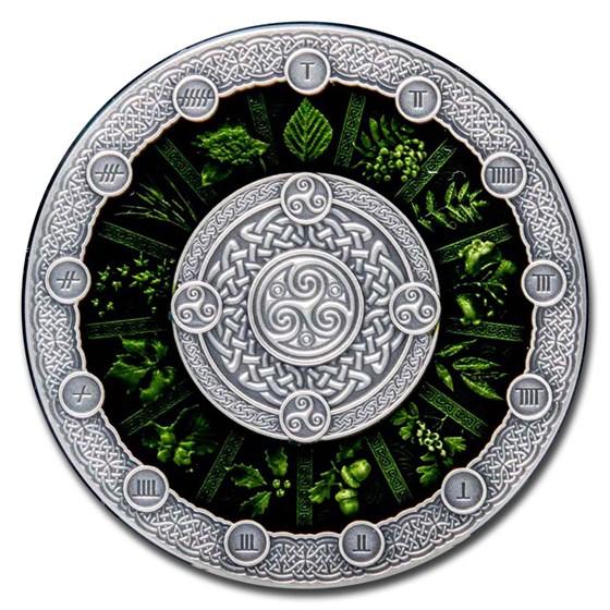 2020 Niue 2 oz Silver Antique Celtic Calendar
