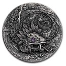 2020 Niue 2 oz Silver Antique Dragons (Aztec Dragon)