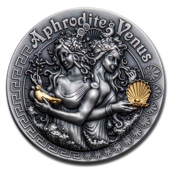 2020 Niue 2 oz Silver Antique Goddesses (Aphrodite and Venus)