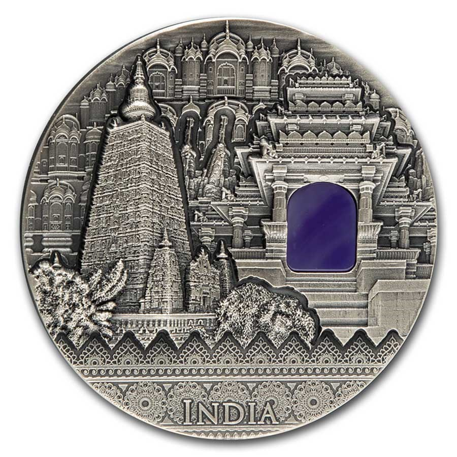 2020 Niue 2 oz Silver Antique India Imperial Art Coin