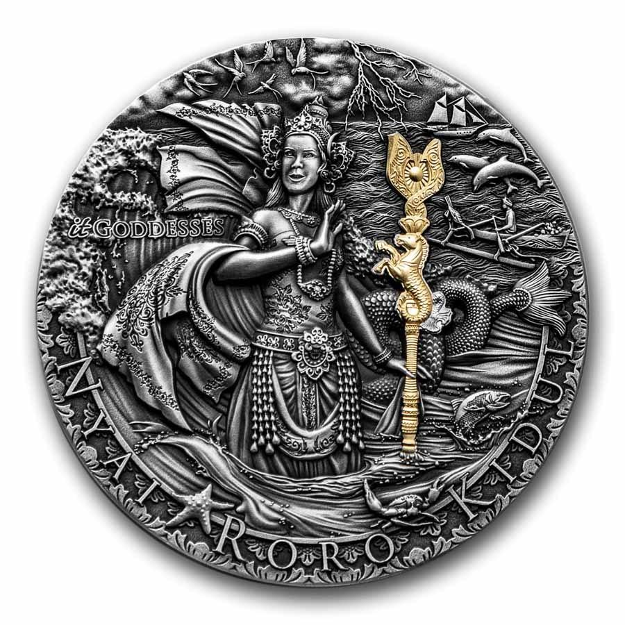 2020 Niue 2 oz Silver Antique It Goddesses; Nyai Roro Kidul