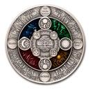 2020 Niue 2 oz Silver Antique Slavic Calendar