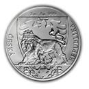 2020 Niue 2 oz Silver Czech Lion BU