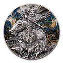 2020 Niue 3 oz Antique Silver Warriors of Ancient China Zhang Fei