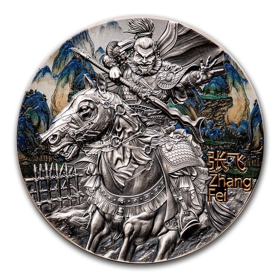 2020 Niue 3 oz Antique Silver Warriors of Ancient China Zhang Fei