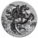2020 Niue 3 oz Silver Five Tiger Generals: Guan Yu